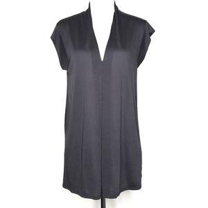 Cupio Gray Sleeveless V-Neck Blouse Top A210876